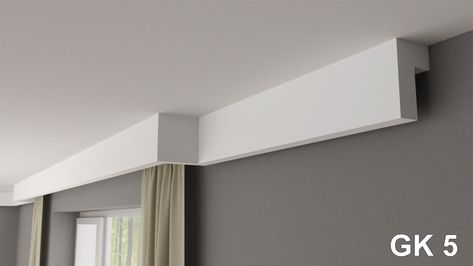 Details About Curtain Rod Rail Cover Coving Cornice Gk5 Xps