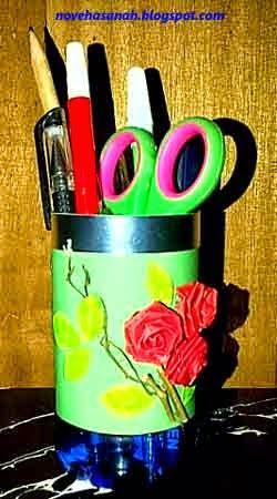 Kerajinan Tangan Dari Botol Plastik Bekas Tempat Pensil Tempat