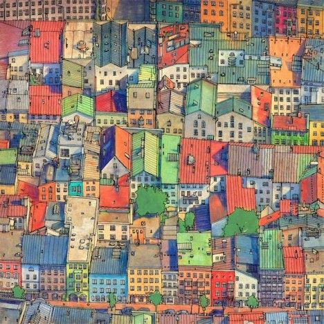 Fantastic Cities 48 Page Urban Coloring Book Made For Adults