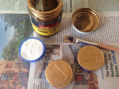 Homemade Gold Coins Diy