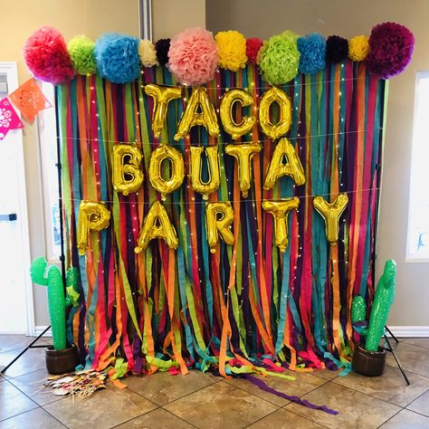 Taco bout a party photo booth-Check out for more events Event Planner Party Fiesta photobooth Mexican Birthday Parties, Mexican Fiesta Party, 2nd Birthday Party Themes, Fiesta Theme Party, Taco Party, First Birthday Parties, Fiesta Gender Reveal Party, Birthday Cats, Birthday Ideas