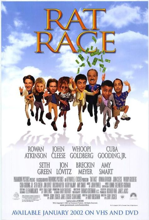 Rat Race Movie Poster 27x40 Used Dave Thomas, Rusty Meyers, Paul Hayes, Marty Antonini, Silas Weir Mitchell, Martin Evans, Lanette Fugit, Linda Kerns, Jenica Bergere, Vince Vieluf, Vic Chao, Jillian Marie