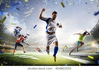 Multi Sports Collage Soccer American Football And Running Sports Quiz Sports Quiz