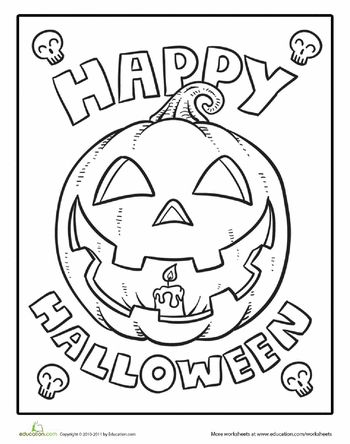 Color The Happy Halloween Halloween Coloring Sheets Pumpkin
