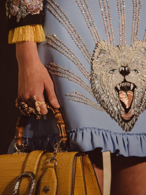 Gucci Cruise 2017 - Gucci Embroideries - Ideas of Gucci Embroideries - For their show in Westminster Abbey Gucci's Alessandro Michele clashed his eccentric aesthetic with the style staples of London tribes.