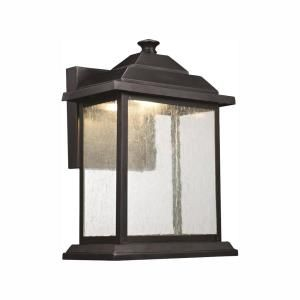 Home Decorators Collection 1 Light Antique Pewter 14 5 In Outdoor Wall Lantern Sconce With Seeded Glass 7953hdcapdi The Home Depot In 2020 Outdoor Wall Lantern Wall Lantern Wall Mount Lantern