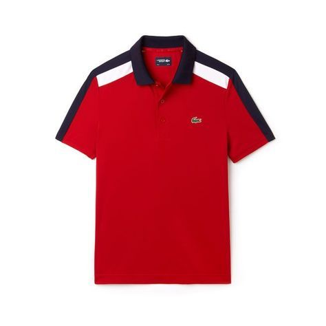 Men S Sport Contrast Band Technical Pique Tennis Polo Lacoste Sport Mens Polo T Shirts Lacoste Polo Shirts