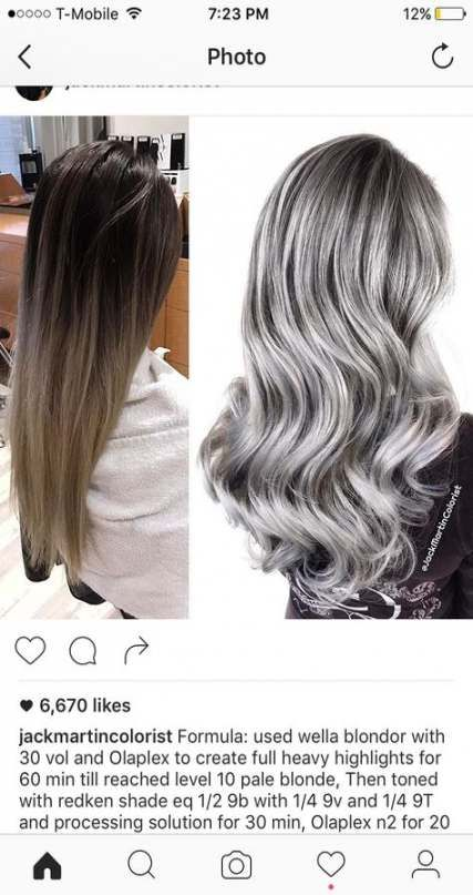 46 Ideas For Hair Color Balayage Grey Style Redken Hair Color Hair Color Formulas Silver Hair Color Formula