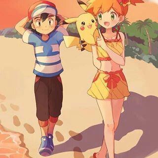 Pokeshipping Ash X Misty Pokemon Ash And Misty Pokemon Alola