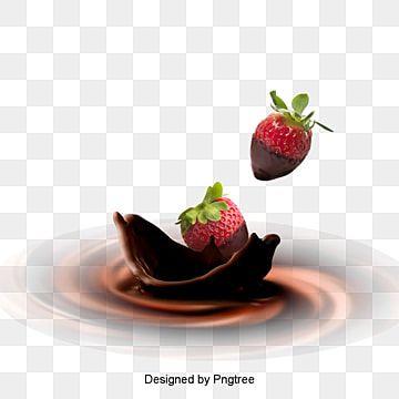 فراولة بالشوكولا العلامة المائية طرطشة الحليب شوكولا حليب Png وملف Psd للتحميل مجانا Chocolate Fruit Chocolate Cherry Cake Chocolate Strawberries