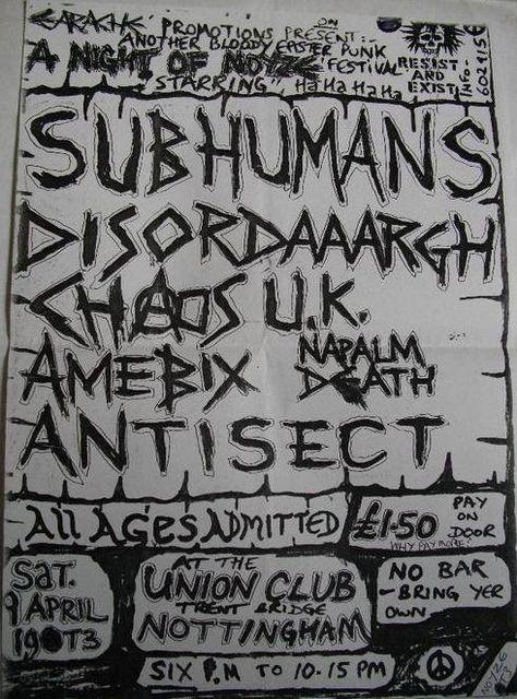 Subhumans, Chaos UK and Amebix
