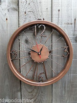 fair trade hand made recycled bike wheel chain large art deco wall desk clock view more on the link