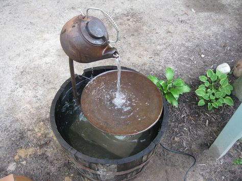 Here are the instructions of how we made my tea pot fountain. Hope it… :: Hometalk