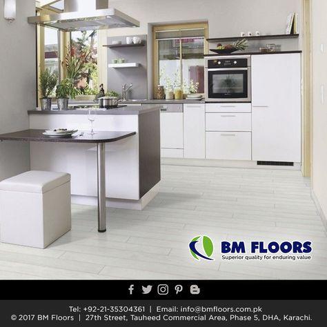 Grey Laminate Flooring Shabby Chic Kitchen, Grey Laminate Flooring B M