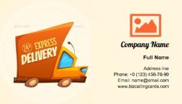 Express Delivery Truck Business Card Template Business Card Template Download Business Card Card Template