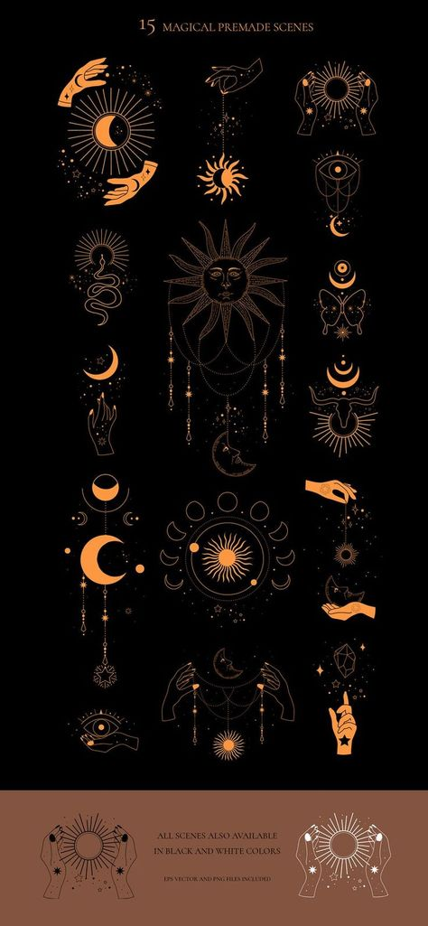 Witch Aesthetic, Sun Aesthetic, Celestial Tattoo, Moon Sun Tattoo, Moon Magic, Star Magic, Magic Art, Magic Tattoo, Sun Logo