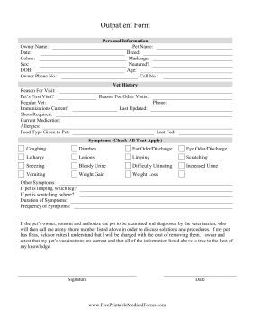 Veterinary Treatment Sheets  Goldenview Veterinary Hospital