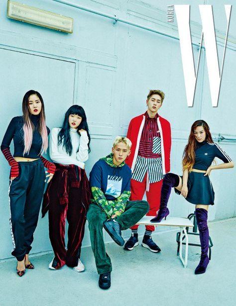 Suhyun Kwon Hyun Bin And The Cast Of Temporary Idols Pose For W Korea Korean Celebrities Idol Korean Idol