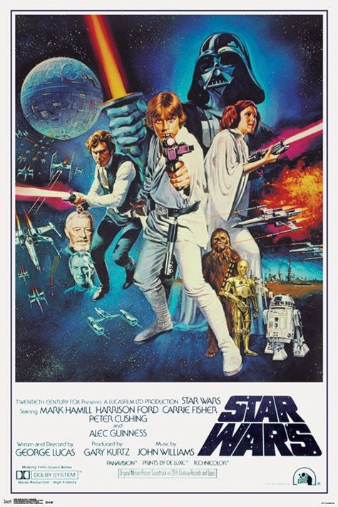 Star Wars - A New Hope Movie Poster Version A Movie Poster 24 x 36