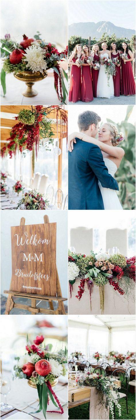 Elegant Marsala + Gold Farm Wedding Cascading with Flowers! #rusticwedding #farmwedding #southafricanwedding #marsalawedding #confettidaydreams #burgundywedding #redwedding #goldwedding #weddingdecor #weddingideas