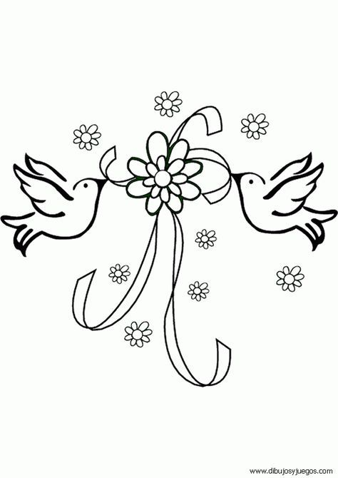 Dibujos Para Imprimir Y Colorear Boda Para Colorear Memes Pictures Wedding Coloring Pages Wedding Doves Flower Coloring Pages