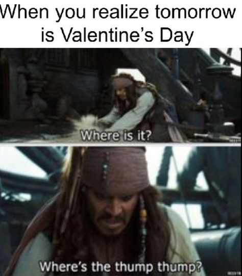 """Captain Jack Sparrow, """"Where is it? Where's the thump-thump? The Pirates, Pirates Of The Caribbean, Captain Jack Sparrow, Stupid Funny Memes, Funny Relatable Memes, Hilarious, Will Turner, Jack Sparrow Quotes, Jack Sparrow Funny"""