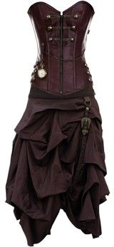 Steam punk dress...Leather- wow! Please check out my site http://www.designyourownperfume.co.uk if you'd like a custom perfume to compliment your own unique style
