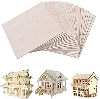 Amazon Com 20pcs Balsa Wood Sheet For House Aircraft Ship Diy Wooden Plate Model 100mm X 100mm X 1mm Wooden Plates Sheets Diy Plates Diy