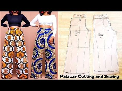 This video shows the making (Pattern drafting, cutting and sewing ) of a Palazzo Pant/ wide leg trouser /Culotte wi. Sewing Pants, Sewing Clothes, Diy Clothes, Barbie Clothes, Fashion Sewing, Diy Fashion, Ideias Fashion, Wide Pants, Wide Leg Trousers