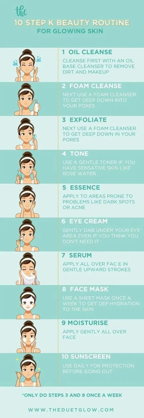 Meet the K Beauty 10 Step routine for flawless, glowing skin! – Beauty Diy Skincare Meet the K Beauty 10 Step routine for flawless, glowing skin! Meet the K Beauty 10 Step routine for flawless, glowing skin! 10 Step Korean Skin Care, Haut Routine, Diy Beauty Treatments, Acne Treatments, Skin Care Routine For 20s, Facial Routine Skincare, Clear Skin Routine, Beauty Hacks Skincare, Nighttime Skincare Routine