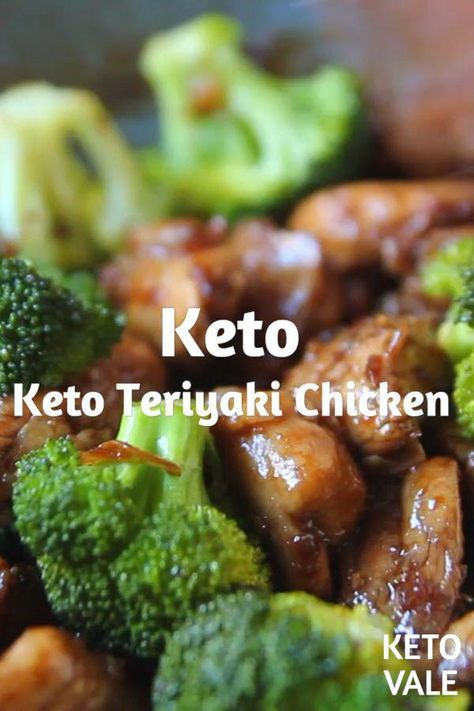 Keto Teriyaki Chicken Thighs with Broccoli Low Carb recipe for Keto diet #keto #ketodiet #ketorecipes #lowcarb #lowcarbdiet #teriyaki #teriyakichicken #KetogenicShakeRecipes