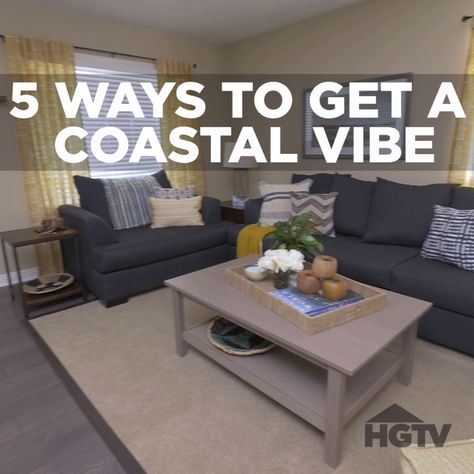 The experts at HGTV.com share beach-inspired shabby chic designs and decorating ideas.
