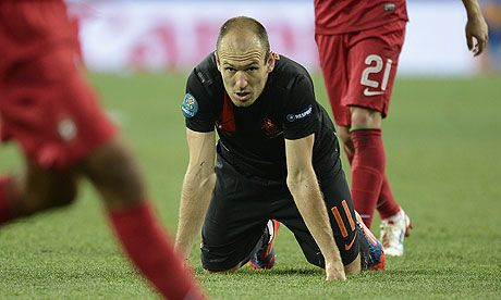 Euro 2012: Arjen Robben hints unrest undermined Holland's campaign