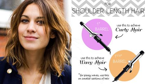 The Right Curling Iron For Your Hair Length Hair Lengths Curling Shoulder Length Hair Curling Iron Hairstyles
