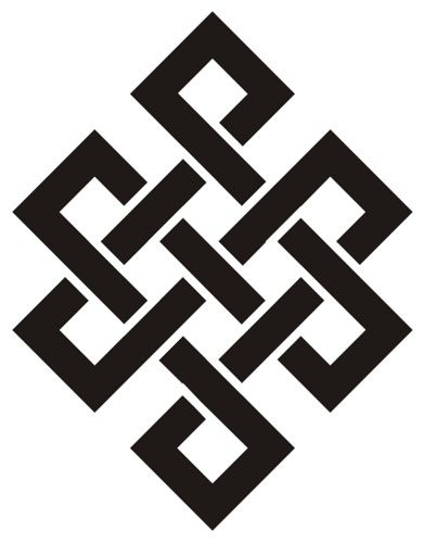 The Endless Knot One Of The Eight Auspicious Symbols Of Buddhism By