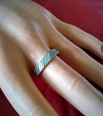 Ebay Advertisement 10kt White Gold Textured Vintage Band Ring Size 9 5 2 27 Grams White Gold Ring Band Wedding Ring Bands White Gold Rings