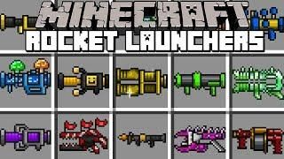 Minecraft ROCKET LAUNCHERS MOD! | CRAFT NUCLEAR LAUNCHERS TO