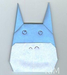 折り紙 ジブリの折り方 作り方 となりのトトロ ポニョ 猫バス 折り紙 猫 バス トトロ