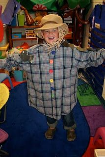 Scarecrow poem and dress up fall unit...