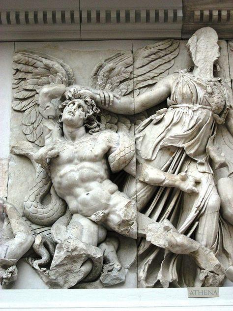 Pergamon Museum Berlin 2007017 Ancient Greek Architecture Hellenistic Frieze Battle Of Gods And Tita Ancient Greek Sculpture Greek Artwork Pergamon Museum