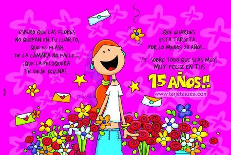Postales De Cumpleanos De 15 Anos Tarjetas De Felices 15 Anos