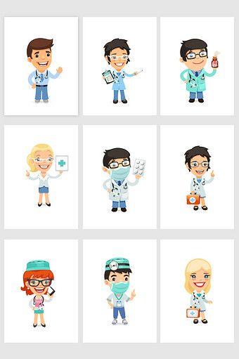 Cartoon Healthcare Professional Health Care Logo Design Health