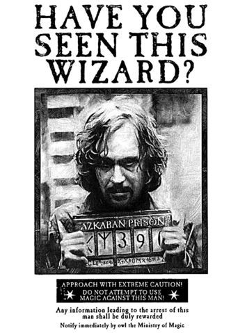 Sirius Black Wanted Poster Printable In Full Resolution