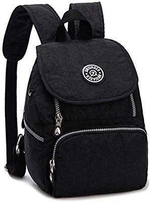 Estwell Women Girls Small Backpack Handbag Waterproof Nylon Shoulder Bag Travel