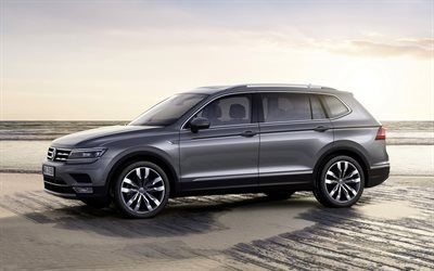 Download Wallpapers Volkswagen Tiguan 2018 4k Side View Exterior Gray Crossover New Gray Tiguan German Cars Volkswagen Besthqwallpapers Com In 2020 Volkswagen New Suv Suv Prices