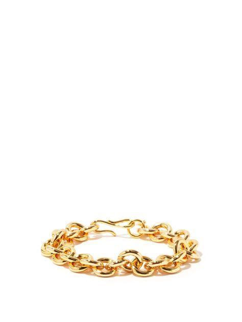 Halo gold-plated chain bracelet | Lizzie Fortunato | MATCHESFASHION US