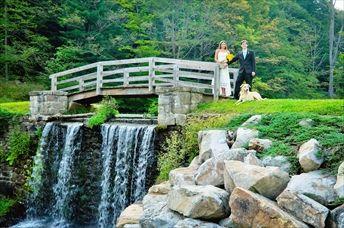 Seven Springs Mountain Resort - Pittsburgh... LOVE the stones, the water, bridge, etc.