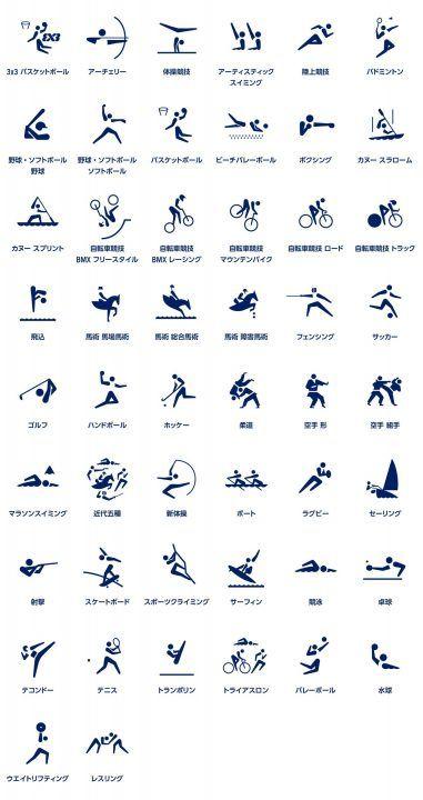 東京2020オリンピックのスポーツピクトグラムを発表 グラフィックデザイナー 廣村正彰氏らが開発 | Webマガジン「AXIS」|Web Magazine AXIS