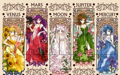 Sailor Moon / Sailor Scouts princesses illustrations