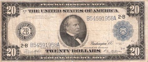 A Grover Cleveland 20 Bill From 1914 It Wasn T Until 1928